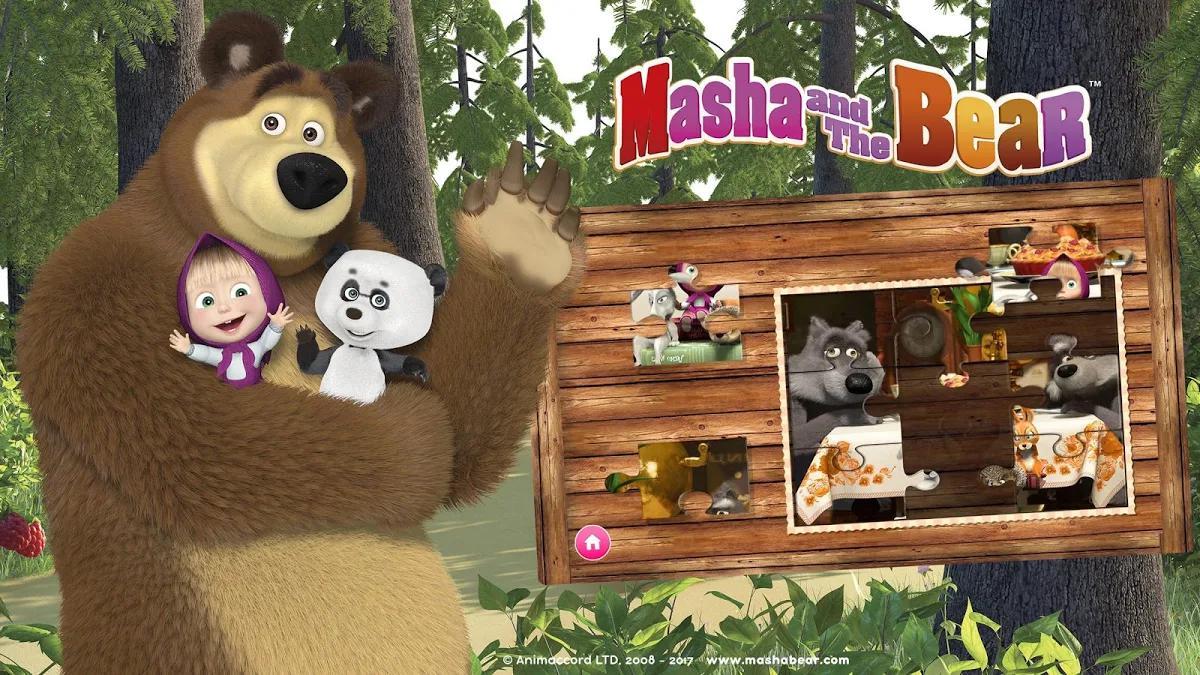 Masha y el oso - Juegos educativos