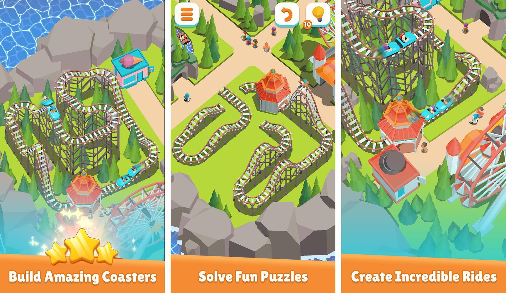 Coaster Builder: Roller Coaster Connect Puzzle