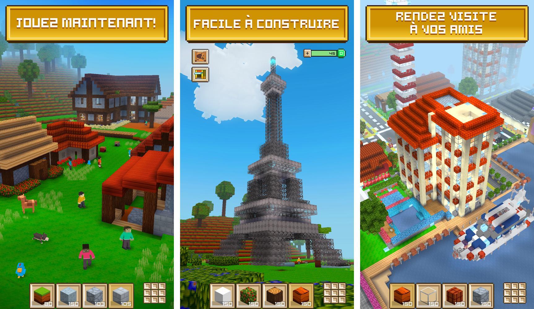 Block Craft 3D: Jeux Gratuit de Construction