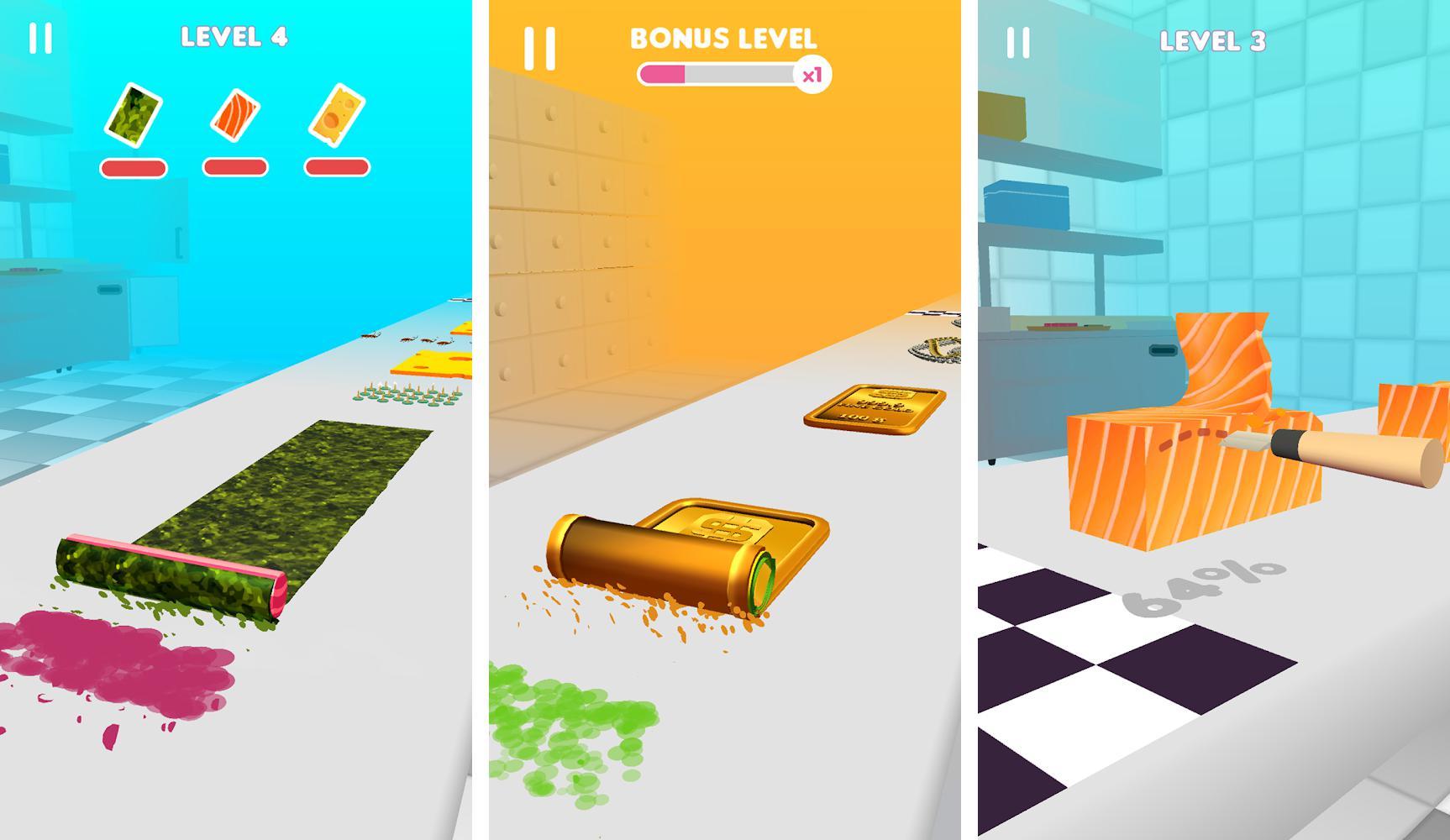 Sushi Roll 3D -  Jogo de Comida | ASMR