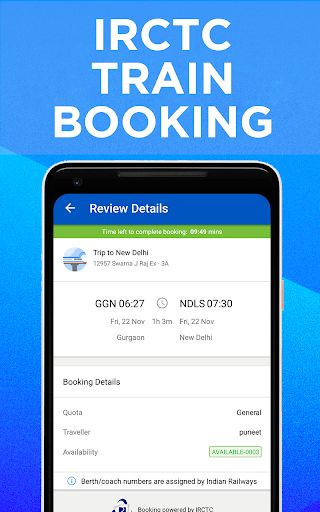 IRCTC Train Booking, PNR Status, Running Status screenshot 1