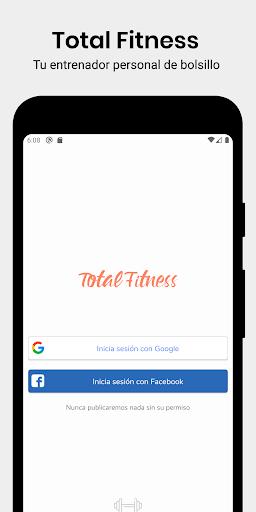 Total Fitness - Entrena en casa y en el Gimnasio screenshot 1