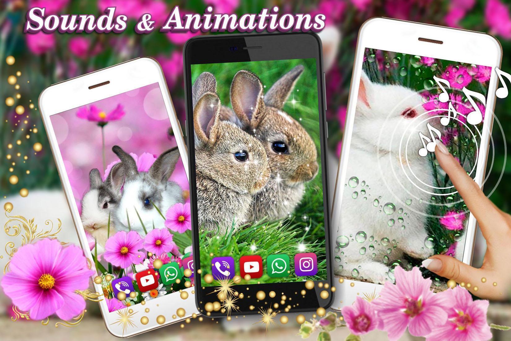 Funny Bunnies live wallpaper 6 تصوير الشاشة