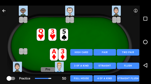 Poker Trainer - Poker Training Exercises 3 تصوير الشاشة