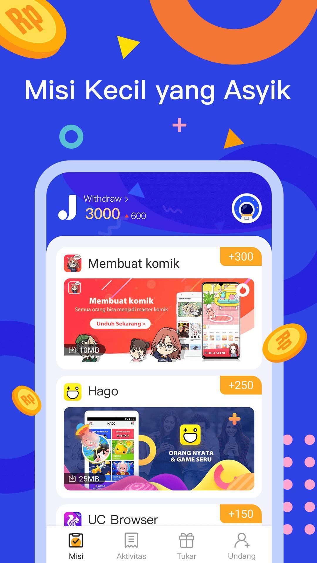 JadiDuit - Free dapat uang, data dan gift screenshot 2