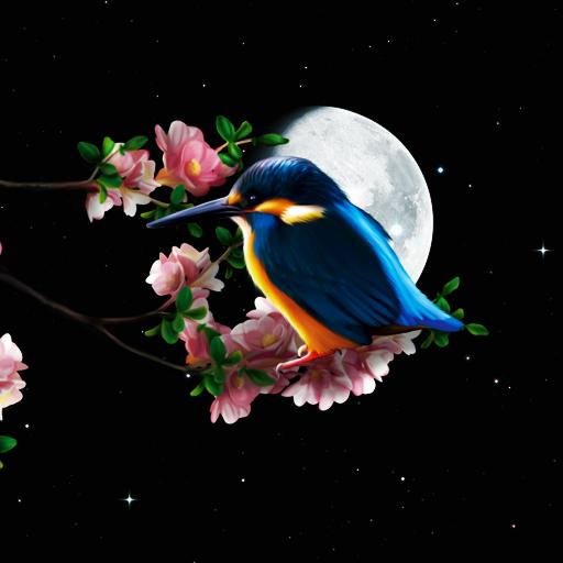 Sakura and Bird Live Wallpaper icon