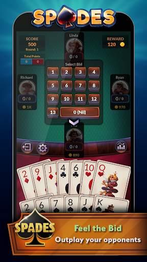 Spades - Offline Free Card Games screenshot 4