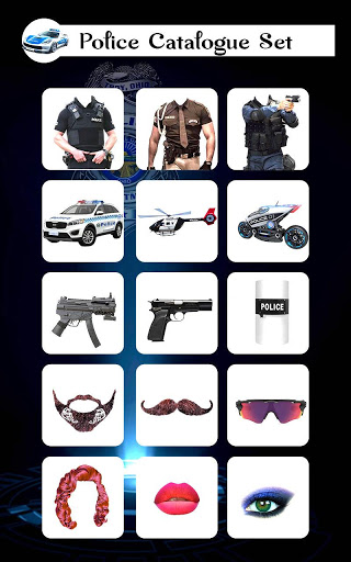 Policer - Men Women Police photo suit Editor Set 3 تصوير الشاشة