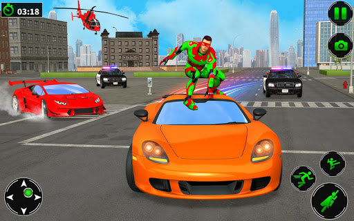 Light Robot Superhero Rescue Mission screenshot 2