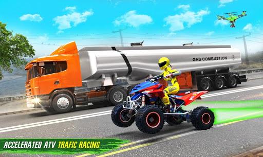 Light ATV Quad Bike Racing, Traffic Racing Games screenshot 2