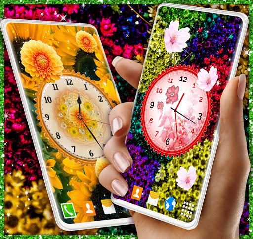 Flower Blossoms Clock 🌺 Spring 4K Live Wallpaper screenshot 5