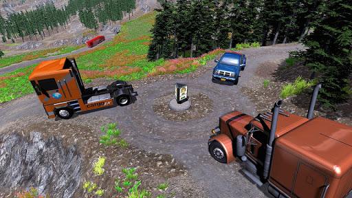 American Truck Cargo Car Transporter Driving screenshot 5