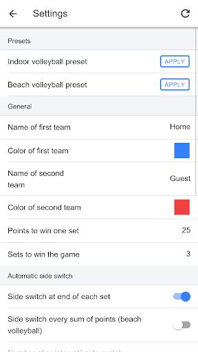 Volleyball Score Simple screenshot 3