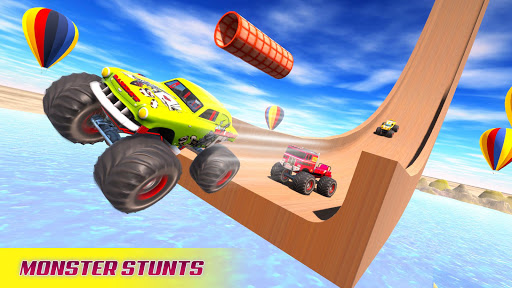 Mega Ramp Car Stunt Racing 3D - Impossible Roads screenshot 1