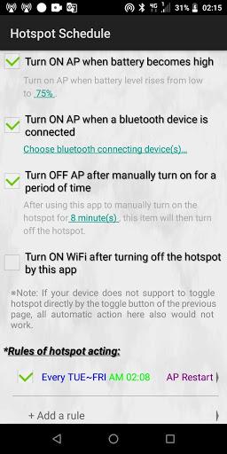HotSpot Tethering - WiFi AP Editor, Share Net/5G screenshot 2