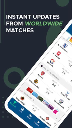 Live Score – Live Football Updates 1 تصوير الشاشة