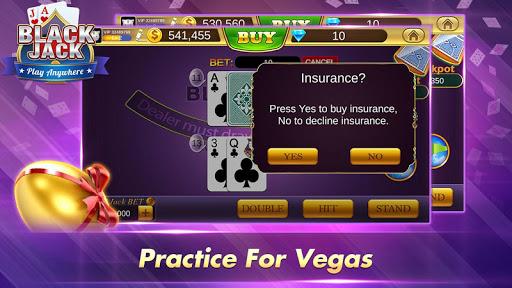 Blackjack 21 Free - Casino Black Jack Trainer Game 3 تصوير الشاشة