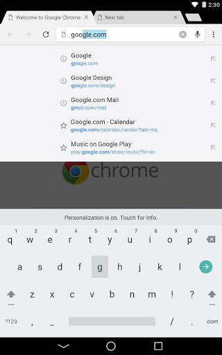 Chrome Beta स्क्रीनशॉट 9