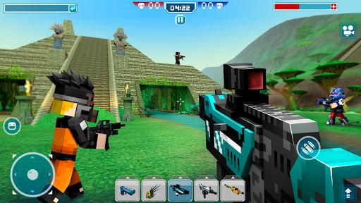 Blocky Cars - shooter & cars 3 تصوير الشاشة