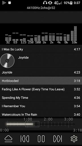 music player with parametric equalizer & surround screenshot 1