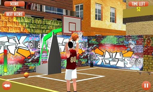 Flick Basketball shooting arcade game - Dunk game 2 تصوير الشاشة