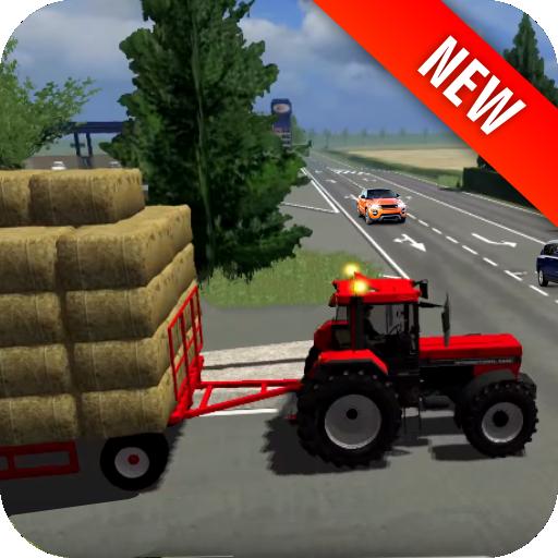 водить машину трактор транспорте иконка
