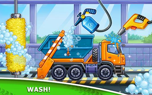 बच्चों के लिए ट्रक गेम - घर की इमारत  कार धोने स्क्रीनशॉट 2
