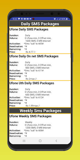 Ufone All Packeges 2020 Latest Updates screenshot 7