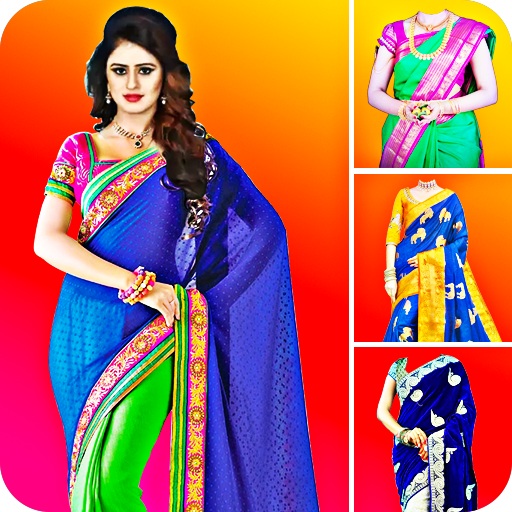 Woman Fancy Saree Photo Suit Editor أيقونة