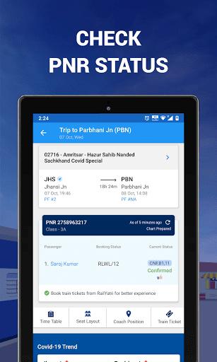 IRCTC Ticket, Train Status, Railway App: RailYatri screenshot 8