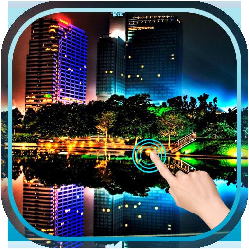 Water Drop Night City أيقونة