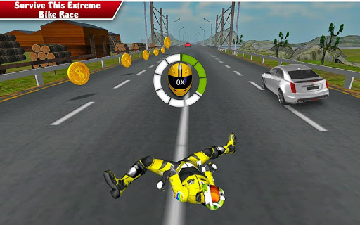 Moto Bike Attack Race 3d games screenshot 1