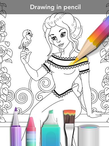 Princess coloring book screenshot 11