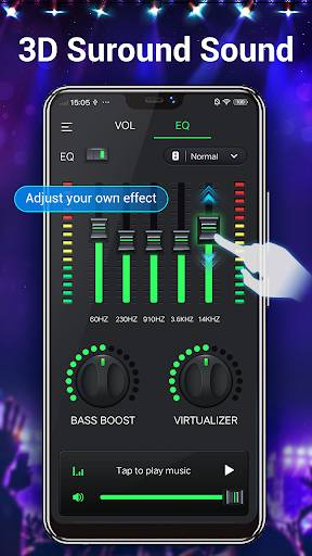 Efek musik Equalizer-Audio screenshot 2