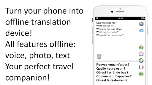 Offline Translator: French-English Free Translate 1 تصوير الشاشة