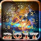 السنة الجديدة على مدار الساعة أيقونة