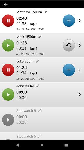 Talking Stopwatch - The advanced timer with speech screenshot 2