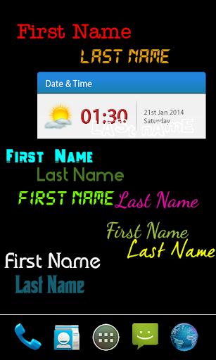 My name live wallpaper 6 تصوير الشاشة