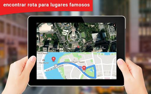 GPS satélite - viver terra mapas E voz navegação screenshot 3