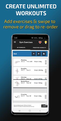 Gym Exercises & Workouts screenshot 3