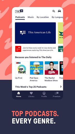 TuneIn Radio: Live News, Sports & Music Stations 4 تصوير الشاشة