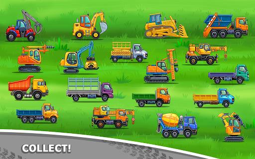 बच्चों के लिए ट्रक गेम - घर की इमारत  कार धोने स्क्रीनशॉट 14