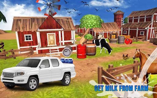 Milk Van Delivery Simulator 2018 screenshot 4
