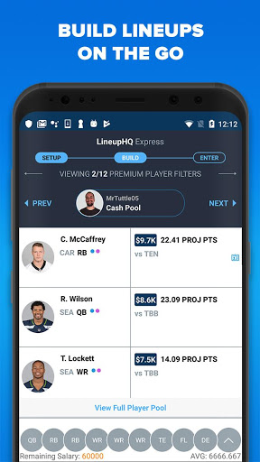 RotoGrinders - DFS Strategy, Lineups, and Alerts screenshot 2