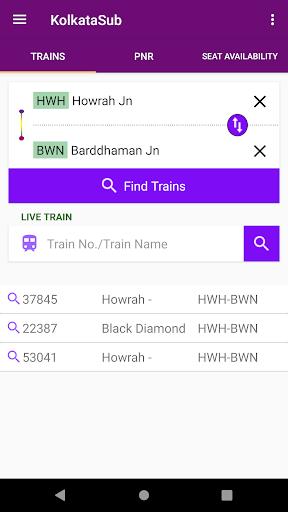 Kolkata Suburban Trains screenshot 1
