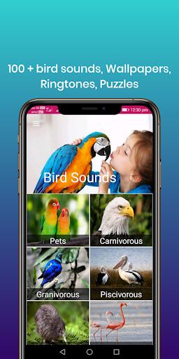 100 suara burung: nada dering, wallpaper screenshot 9