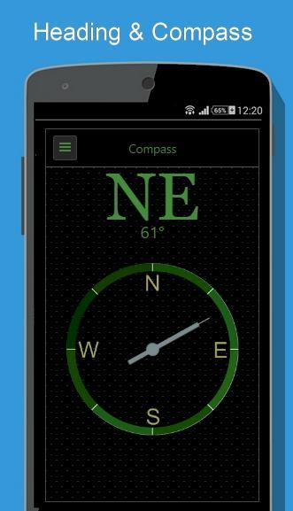 Regency Compass GPS & Speedometer Street View screenshot 1