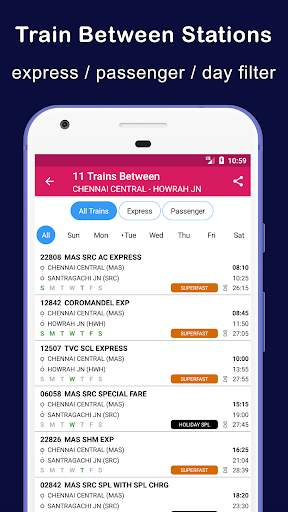 Indian Railway Train Status : Where is my Train screenshot 6