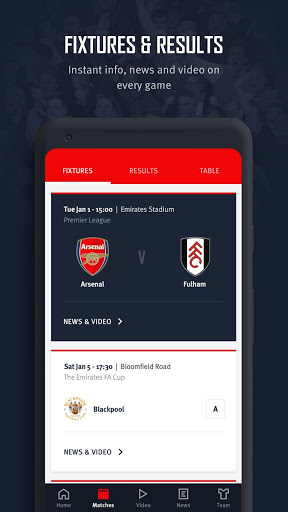 Arsenal Official App 4 تصوير الشاشة