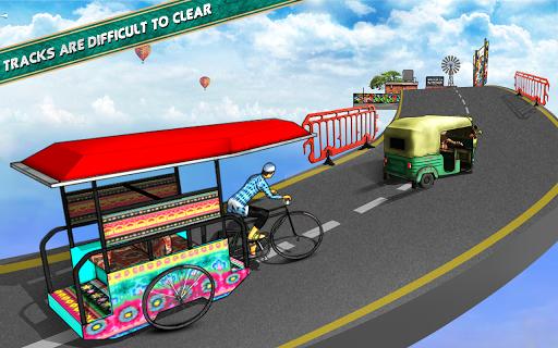 Bicycle Rickshaw Simulator 2019 : Taxi Game screenshot 18